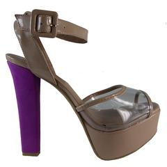 Sandália Feminina Vinil Cristal Macro Fashion Premium