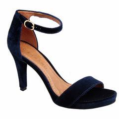Sandália Veludo Azul Marinho Carrano