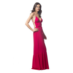 Vestido Longo Trançado Pink Litt'