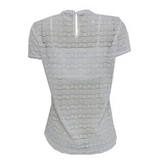 Blusa Renda com Patches Off White Tricia Modas
