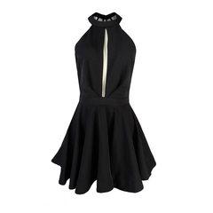 Vestido Decote Rodado Preto Juju Preto