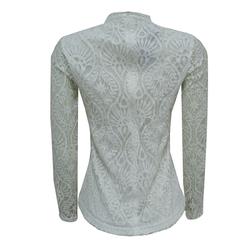 Camisa Renda + Decote Off White Esmeral