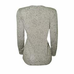 Blusa Tweed Detalhe Gato Cinza Brigida