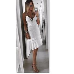 Vestido Renda Off White Esmeral