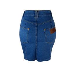 Saia Jeans Cintura Alta Delavê Ampô