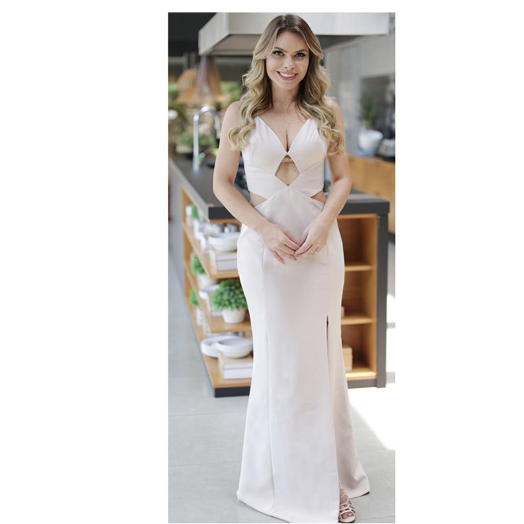 Vestido Longo Recortes Rosê Anne Fernandes