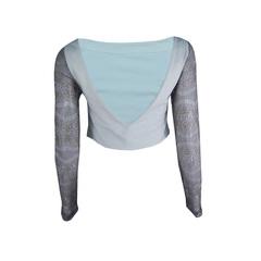 Blusa Cropped Rendado Couro Envelhecido Plataforma Vogue