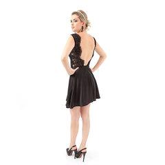 Vestido Pedraria com Saia Rodada Amicci