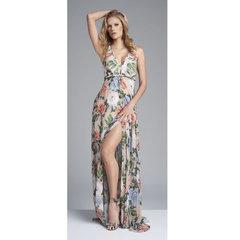 Vestido Longo Bordado Floral Anne Fernandes