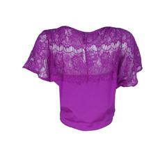 Blusa de Renda Morcego Lush Litt'