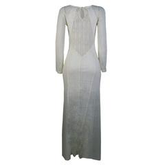 Vestido Longo Detalhe Transparência Off White Litt'