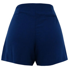 Short Saia Crepe Clau Azul Esmeral