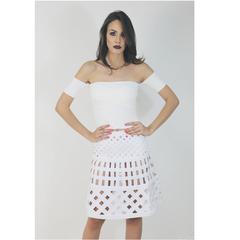 Blusa Cropped Bandagem Off White Primart