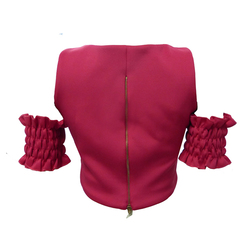 Blusa Cropped Neoprene Pink By Nv