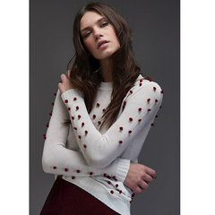 Blusa Tricot com Bolinhas Branco Iorane