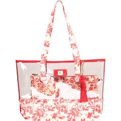 Bolsa Estamapa Floral Vermelho Cecconello