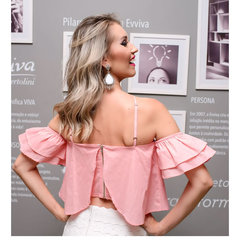 Blusa Cropped Hamptons Rosa Esmeral