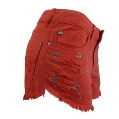 Short Jeans Collor Cruz Vermelho Anne Fernandes