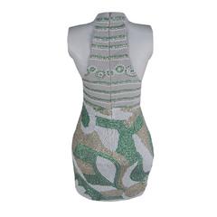 Vestido Curto Pedras e Paetes M.Rodarte