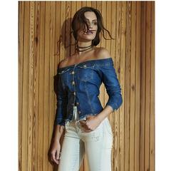 Casaco Ombro a Ombro Jeans Sk Club
