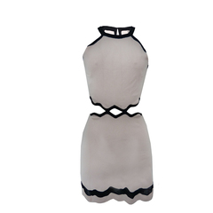 Vestido Bruna Recorte na Cintura Rosa Primart