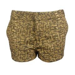 Short Cintura Baixa Jacquard Ouro Anamac