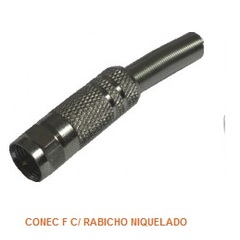 Conector F Tblack Niquelado com Rabicho - 8.4.65