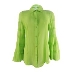 Camisa Manga Sino Silk Maça Verde Litt'