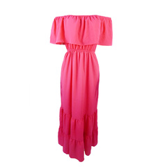 Vestido Crepe Ombro a Ombro Pink Pat Pats'