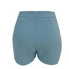 Short com Bolso Crepe Azul Claro She Likes