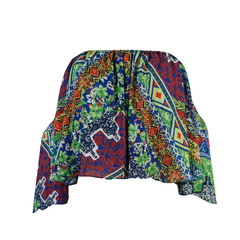 Blusa Cropped Crepe Estampado Chou Chou