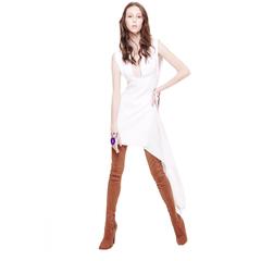 Vestido Curto com Decote Branco Wagner Kallieno