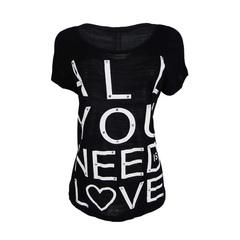 Blusa T-Shirt Turca Preto Plataforma Vogue