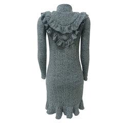 Vestido Gola Alta com Babados Iorane