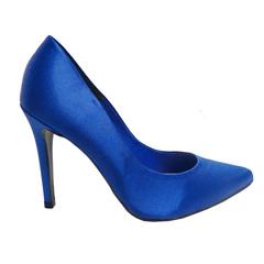 Scarpin Feminino Cetim Azul Divalesi
